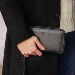 Неповторимая черная мужская сумка для мобильного телефона BRL-23091 234832