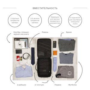 Удобная черная дорожная сумка портфель BRL-23144 235013