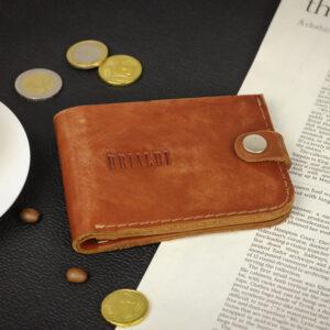 Удобный темно-оранжевый мужской бумажник BRL-7593 233766
