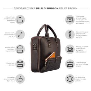 Функциональный коричневый мужской портфель рюкзак BRL-23167 235024