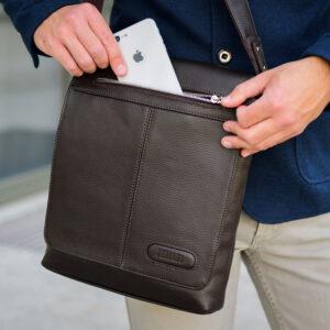 Неповторимая коричневая мужская сумка для документов BRL-11724 233875