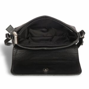 Кожаная черная женская сумка BRL-15208 234249