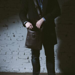 Неповторимая коричневая мужская сумка для документов BRL-132 233342
