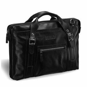 Вместительная черная мужская сумка для документов BRL-182