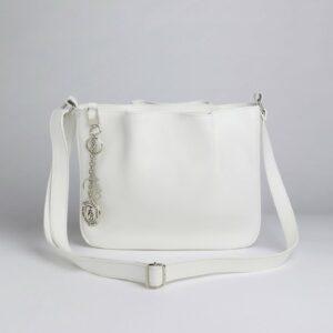 Вместительная белая женская сумка FBR-971