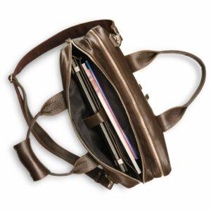 Солидная коричневая мужская сумка BRL-12973 234125