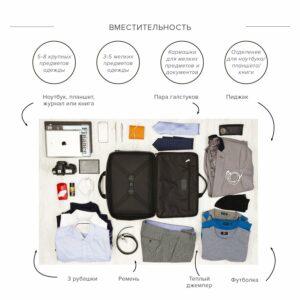 Уникальная черная мужская сумка BRL-23116 234937