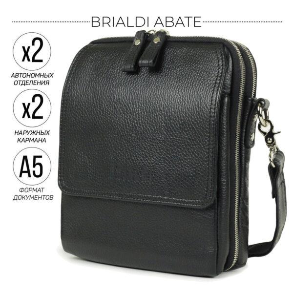 Уникальная черная мужская сумка BRL-26688