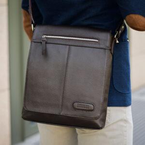 Неповторимая коричневая мужская сумка для документов BRL-11724 233881