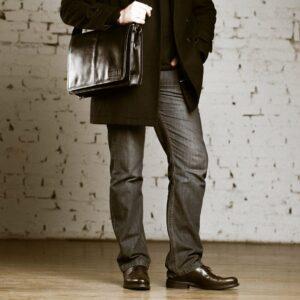 Неповторимая черная мужская сумка BRL-949 233488