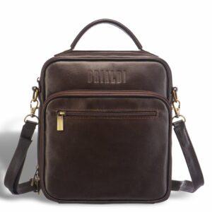 Функциональная коричневая мужская барсетка BRL-12936 234075