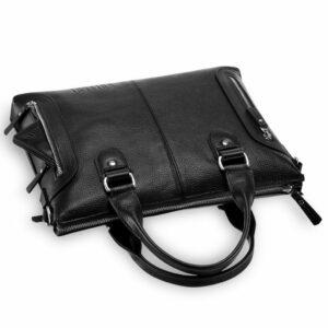 Кожаная черная мужская сумка BRL-17805 234376