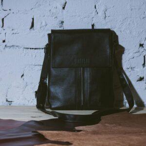 Удобная черная мужская сумка для документов BRL-1021 233471