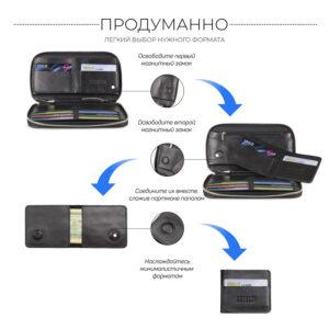 Неповторимая черная мужская сумка для мобильного телефона BRL-23091 234803