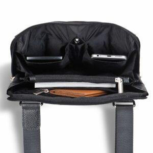Функциональная черная мужская сумка для документов BRL-12058 234038