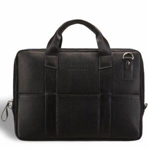 Кожаная черная мужская сумка BRL-9547 233856