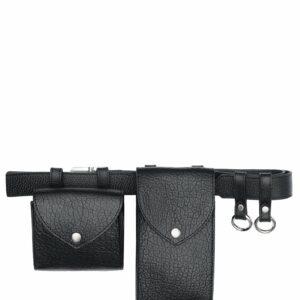 Деловая черная женская поясная сумка FBR-2472
