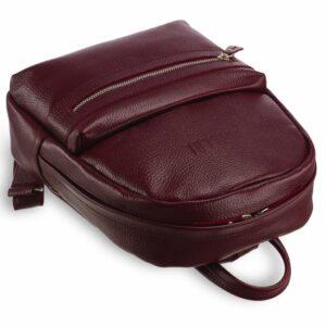 Солидный бордовый женский городской рюкзак BRL-17482 234337