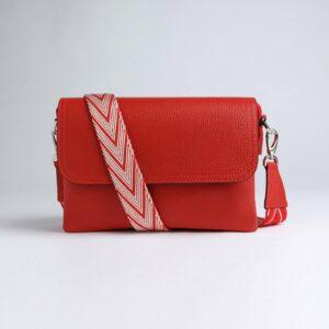 Кожаный красный женский клатч FBR-2786
