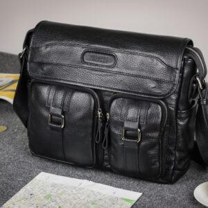 Удобная черная мужская сумка для документов BRL-12995 234163