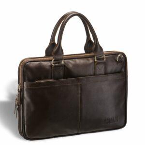 Стильная коричневая мужская сумка BRL-11867