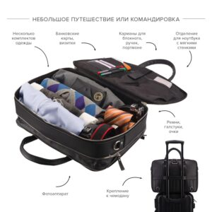 Вместительный черный мужской портфель рюкзак BRL-23165 234986