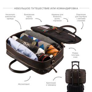 Функциональный коричневый мужской портфель рюкзак BRL-23167 235056