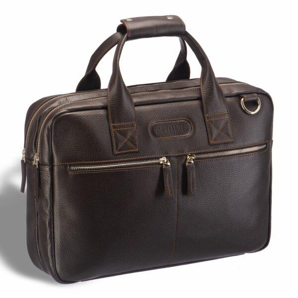 Солидная коричневая мужская сумка BRL-12973