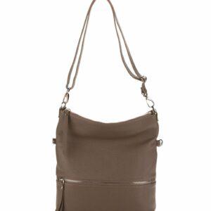 Функциональная бежевая женская сумка через плечо FBR-1680