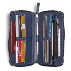 Кожаная синяя мужская сумка для мобильного телефона BRL-19827 234411