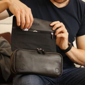 Кожаный черный мужской аксессуар BRL-23312 235148