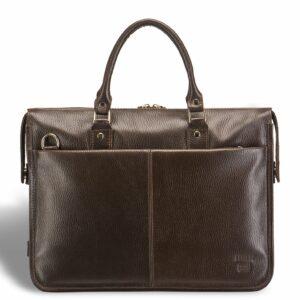 Солидная коричневая мужская сумка для документов BRL-12048 233935