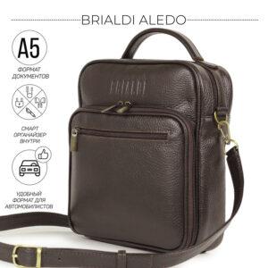 Солидный коричневый мужской планшет BRL-12937