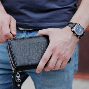 Деловая черная мужская сумка для мобильного телефона BRL-19832 234425