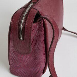 Кожаная бордовая женская сумка через плечо FBR-2477 236833