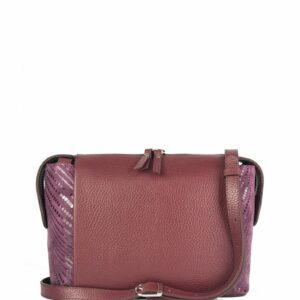 Кожаная бордовая женская сумка через плечо FBR-2477 236827