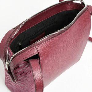 Кожаная бордовая женская сумка через плечо FBR-2477 236835