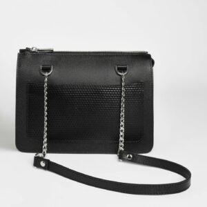Кожаная черная женская сумка FBR-2195