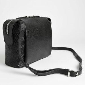 Солидная черная женская сумка через плечо FBR-2600 236857