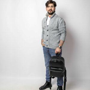 Уникальный черный мужской рюкзак FBR-2139 236724