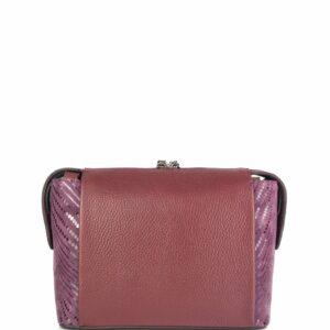 Кожаная бордовая женская сумка через плечо FBR-2477 236829