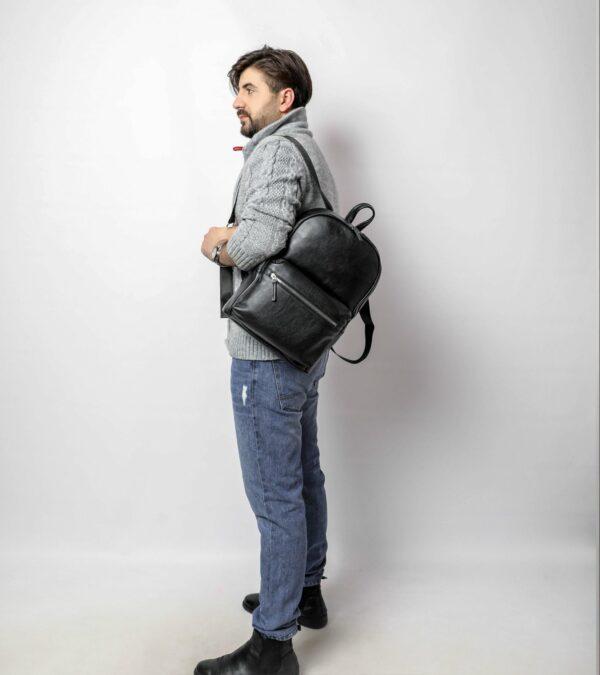 Уникальный черный мужской рюкзак FBR-2139