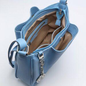 Модная голубая женская сумка FBR-189 236649