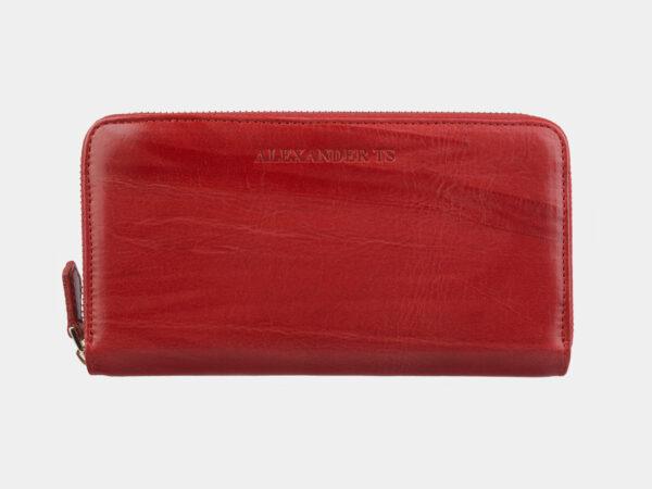 Кожаный красный портмоне ATS-2758