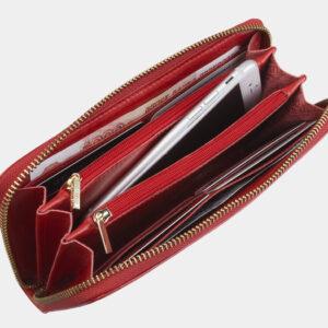 Кожаный красный портмоне ATS-2758 237010
