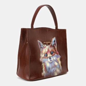 Уникальная светло-коричневая сумка с росписью ATS-4132 236630