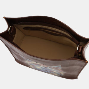 Уникальная светло-коричневая сумка с росписью ATS-4132 236633