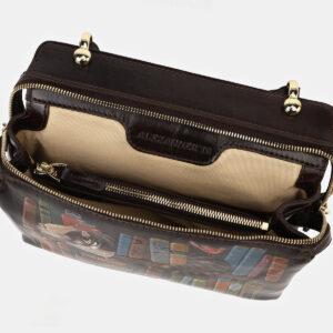 Вместительная коричневая сумка с росписью ATS-4133 236628