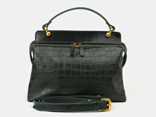 Солидная зеленая женская сумка ATS-4135