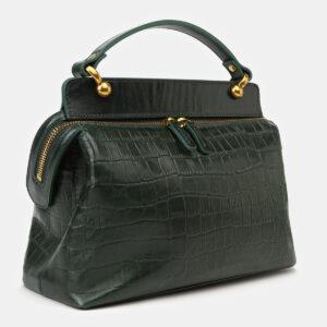 Солидная зеленая женская сумка ATS-4135 236615